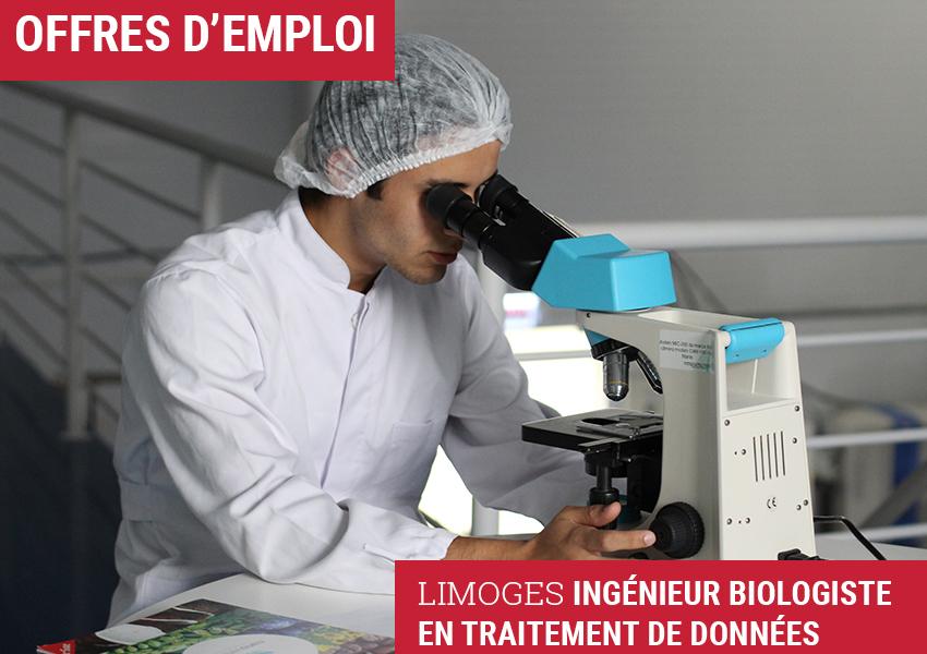 Limoges – Ingénieur biologiste en traitement de données